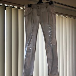White Freddy WR.UP distressed look jeans